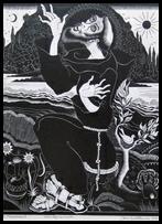 Houtgravure 1947 Pt. Franciscus