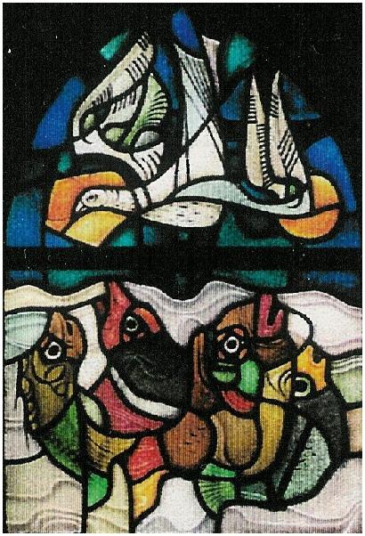 1959 - Eén van de ramen van de doopkapel St. Josephkerk te Dongen.