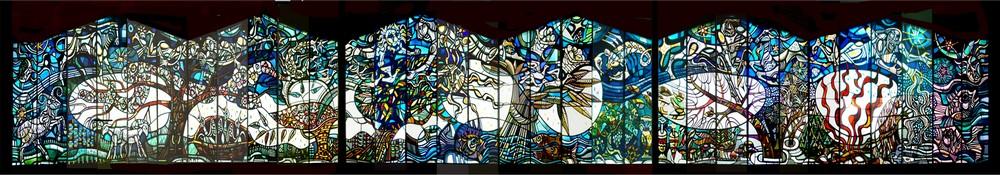 1968 - de glaswand in de St. Martinuskerk te Kethel